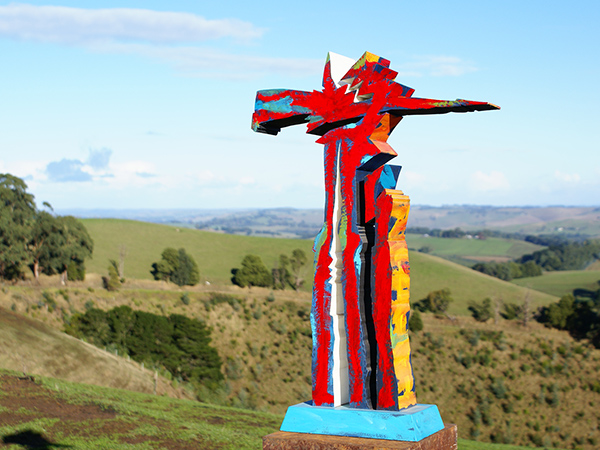 Fire Totem, 1986, sculpture by Adrian Mauriks.